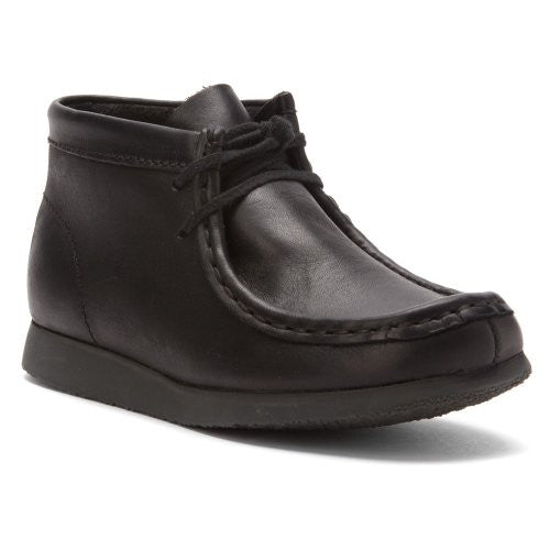 Clarks Wallabee Boot Black Leather 10.5 Toddler
