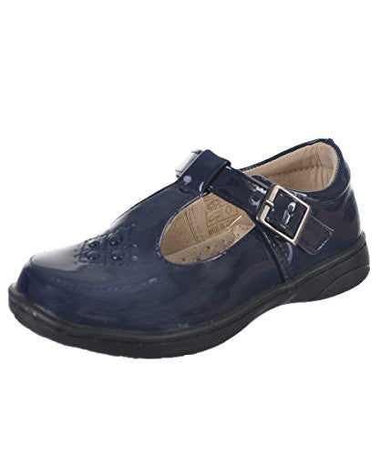 "Easy Strider Girls' ""Circle Grid"" Mary Janes - navy, 11 toddler"