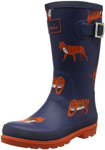 Joules Boys' Jnrboyswelly Rain Boot, Navy Tiger, 13 M US Little Kid