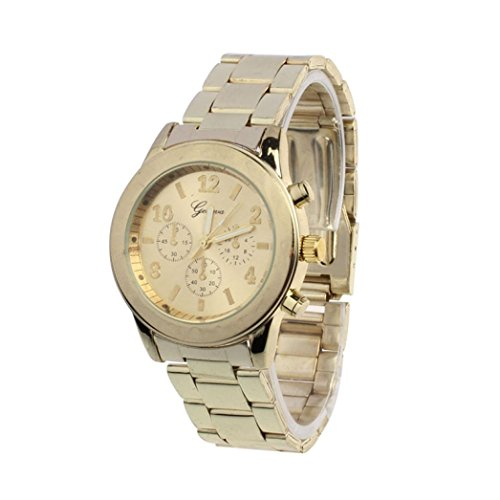 Stainless Steel Quartz Wrist alloy Ninasill Watch (Gold)