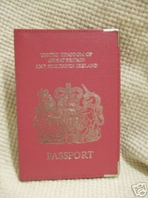 Pink Leather UK Passport Holder