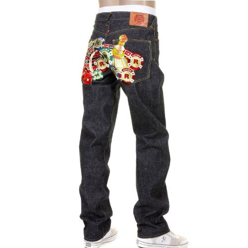 RMC full back embroidered Casino slimmer cut 1001 model denim jean REDM1217