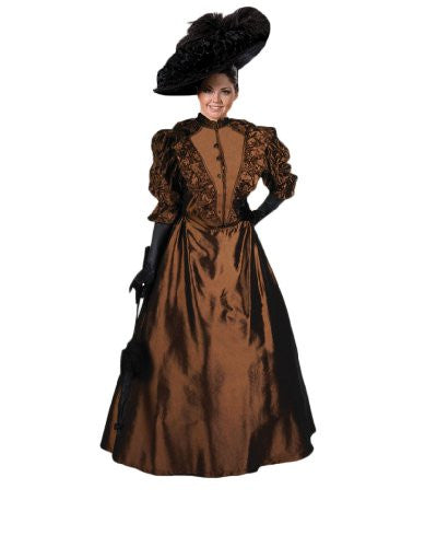 Women's Brown Victorian Era Annie Dress Theater Costume M
