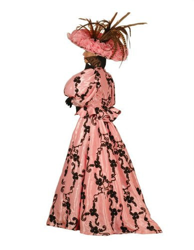 Women's Lacey Victorian Theater Costume Dress, Rose, Large