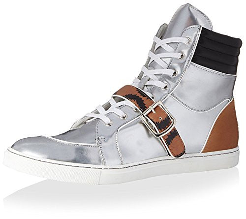 Vivienne Westwood Men's Hightop Sneaker, Silver/Tan/White, 45 M EU/12 M US