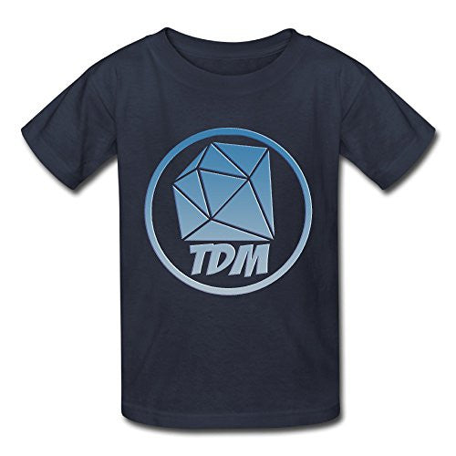 Senben Kid's The Diamond Minecart DAN TDM Logo T-shirt Navy XS