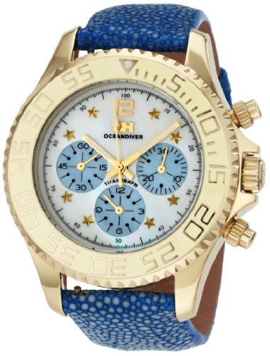 3H Women's CH1T Tintangraph Titanium Gold PVD Chronograph Interchangeable Band Watch