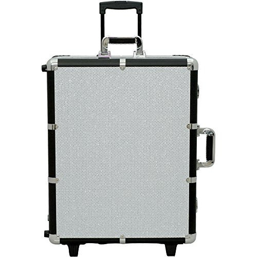 Sunrise Lighted Makeup Case on Wheels, Krystal White