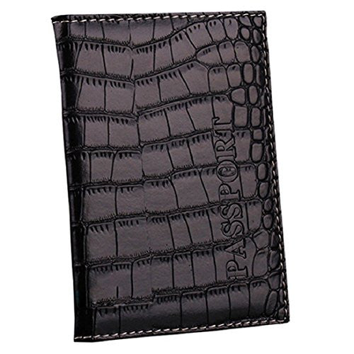 Magic Finger Faux Leather Passport Holder Organizer Case