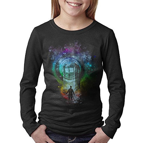 Kids Next Doctor Who Before Tardis Long Sleeve T-Shirts Black