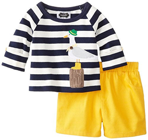 Mud Pie 4T Seagull Short Set