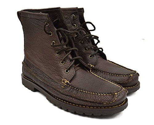 Brooks Brothers Men's Casual Hunting Bison Leather Boots Brown 9.5 D