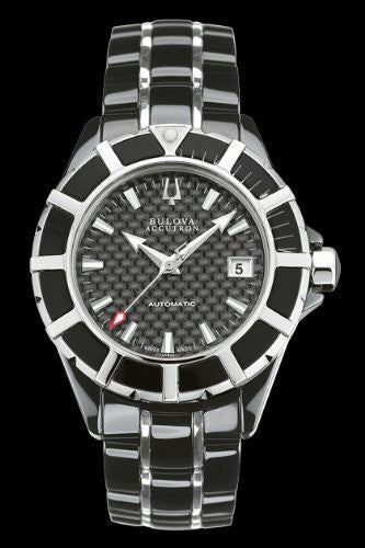 Accutron by Bulova Mirador Automatic Ceramic & Steel Mens Watch Black Dial 65B35