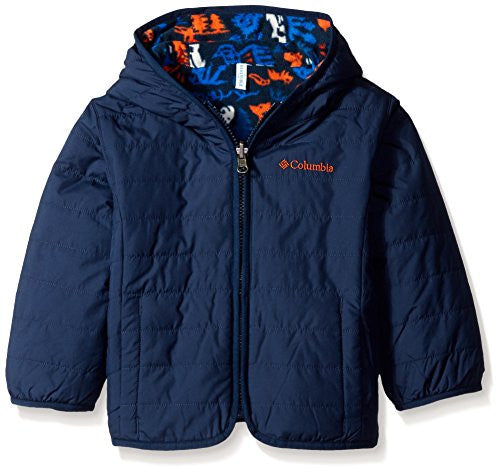 Columbia Little Boys' Toddler Double Trouble Jacket, Collegiate Navy Critters, 4T