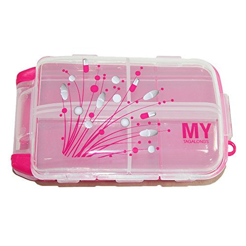MY TAGALONGS Vitamin Pod Pill Organizer, Pink
