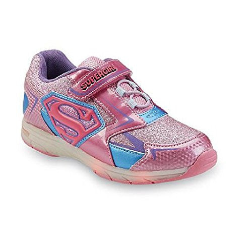 DC Comics Girl's Supergirl Light Up Shoes (1)