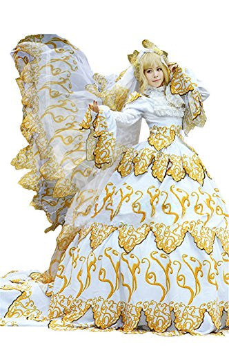 Mtxc Women's Tsubasa: Reservoir Chronicle Cosplay Costume Sakura Gorgeous Dress Size X-Large Yellow