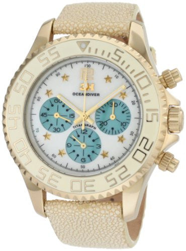 3H Women's CH1V Tintangraph Titanium Gold PVD Chronograph Interchangeable Band Watch