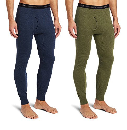 Duofold KMO3 Men's Double Layer Thermal Pant L 1 Blue Jean + 1 Olive Heather