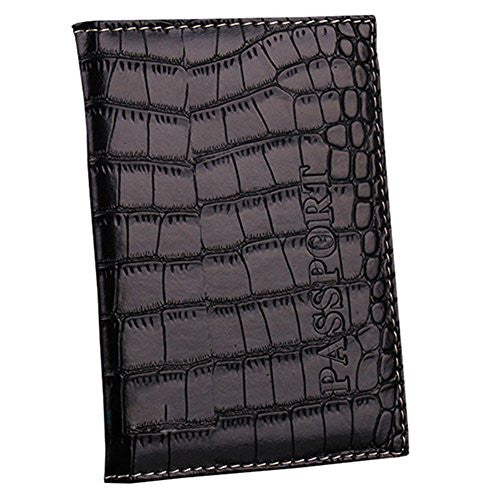 Gaweb Faux Leather Passport Holder ID Card Ticket Organizer Case