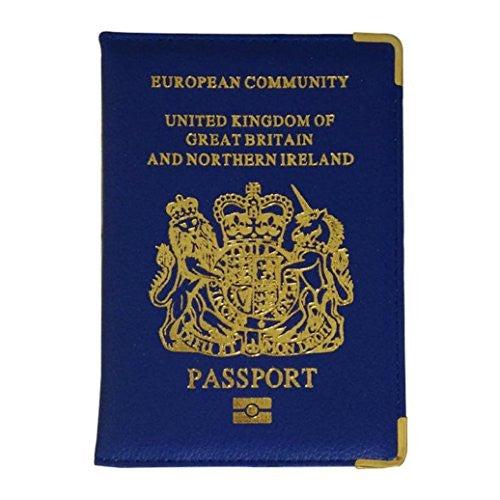 Shuohu Faux Leather UK Travel Passport Cover Holder Protector