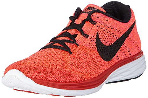 Mens Nike Flyknit Lunar 3 Red/crimson/lava/black 698181-602 Sz 13 (31 Cm)