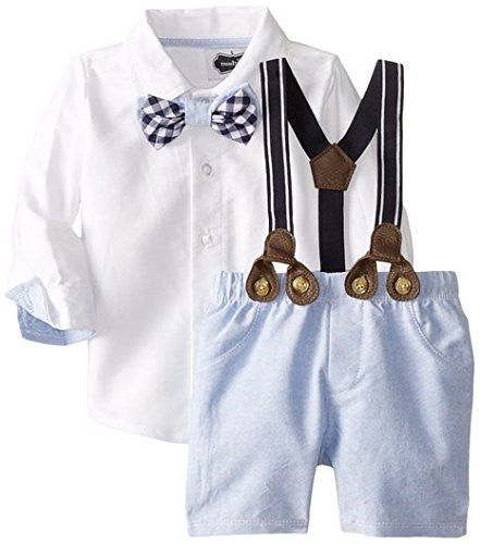 Mud Pie Baby-boys Newborn Suspender Short Set (24 Months)