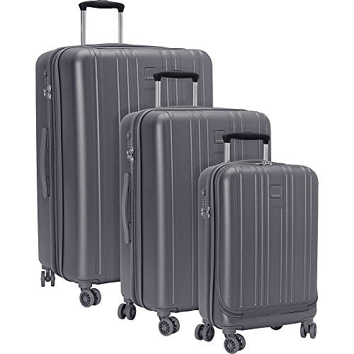 "Hedgren Nest Hardside Luggage 20"" + 24"" + 28"", Tornado Grey"