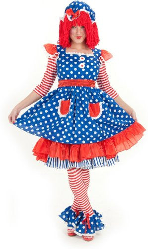Adult Miss Raggedy Ann Costume Small