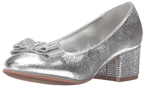 Nina Girls' Gisel Pump, Silver, 5 M US Big Kid
