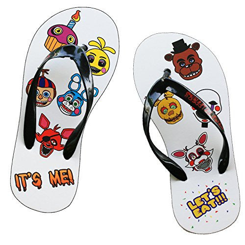 Five Nights at Freddy's Characters Print Flip Flop Strap Sandals (XXS - 21cm)