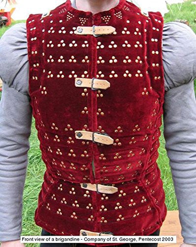 Medieval thick padded WINE RED STEEL PLATED gambeson aketon Doublet arming jacket armor armour