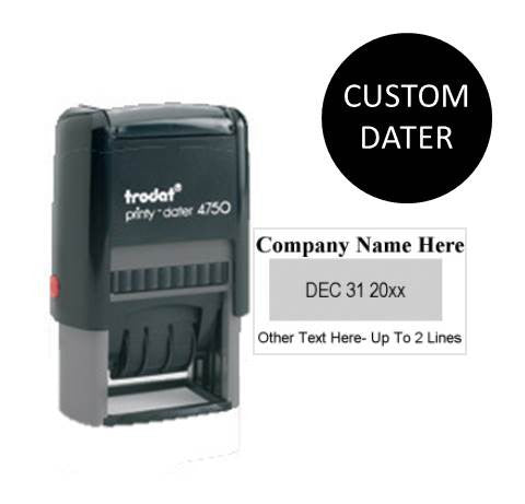 Trodat Printy 4750 Self Inking Date Stamp {Black Ink Only}