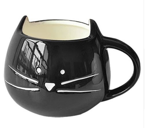 COOL BLACK CAT CERAMIC MUG