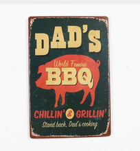 "Nostalgic Tin Sign - Dad's BBQ - 8""x12"""