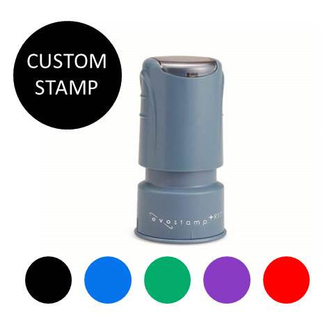 Evo Stamp EPR17{Circular Pocket Stamp- Choice of 5 colors} Imprint size: 11/16