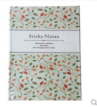 CUTE NOTEBOOK WITH STICKY NOTES - MULTICOLOR