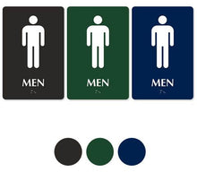 MEN'S RESTROOM 9in. x 6in. TactileTouch™ Braille Sign