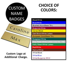 "1"" x 3"" Engraved Name Badge w/Magnet"