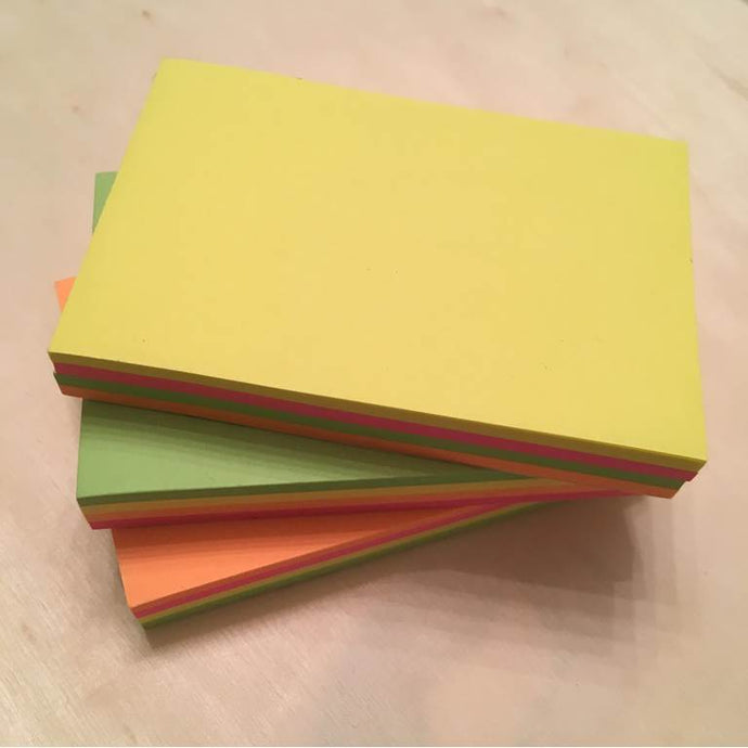 CUTE MULTICOLOR STICKY NOTES- 100 TOTAL PAGES/PK