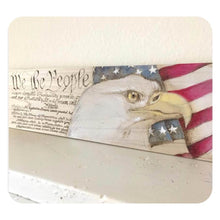Handmade Wood Burned Sign with Eagle
