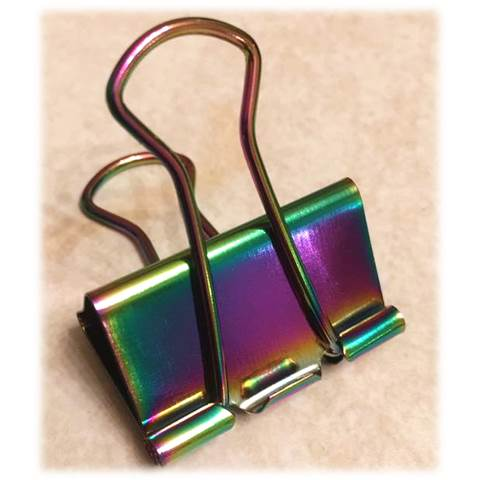 IRIDESCENT BINDER CLIPS - 1.25
