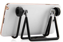 Metal Phone Tablet Stand with Adjustable Bracket  - BLACK
