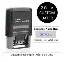 Trodat Printy 4750 Self Inking Date Stamp {Two Color Dater}