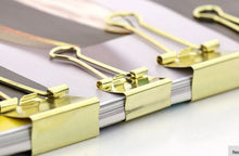 STYLISH GOLD BINDER CLIPS 6/PK