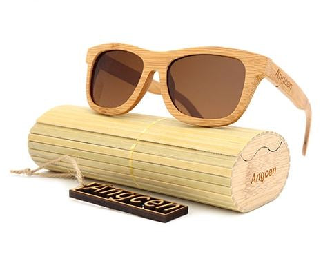 FASHIONABLE WOODEN POLARIZED SUNGLASSES
