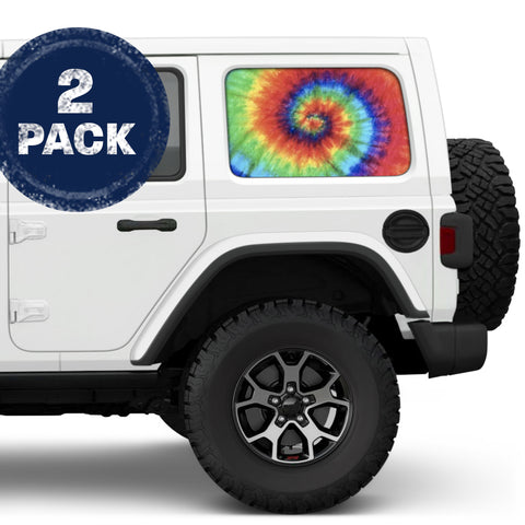 Trippy Tie Dye JKU/JLU Side Windows Printed Vinyl