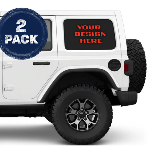 **Custom Design** Jeep Wrangler JKU & JLU Side Windows Printed Vinyl