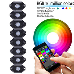 Rock Lights - Multi-color RGB (Bluetooth)
