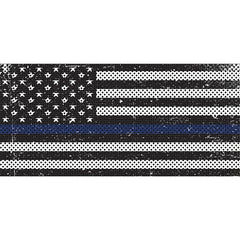 Distressed Black & White Thin Blue Line